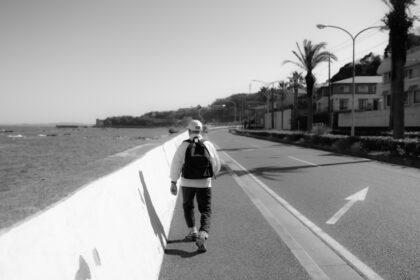 散歩する父