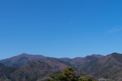 七沢森林公園から眺めた丹沢
